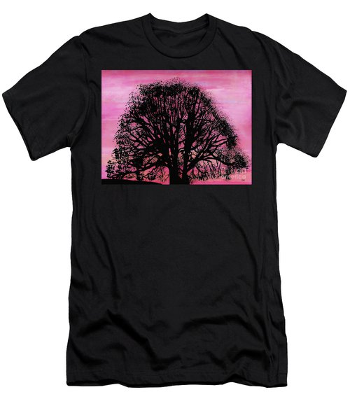 Pink Sunset Tree Men's T-Shirt (Athletic Fit)