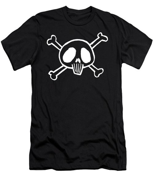 Pirate Skull And Bones Sketch Men's T-Shirt (Athletic Fit)