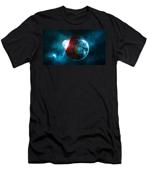 Planet Impact Men's T-Shirt (Athletic Fit)