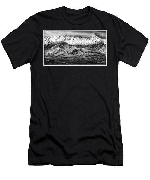 Polychrome Mountain, Denali National Park, Alaska, Bw Men's T-Shirt (Athletic Fit)