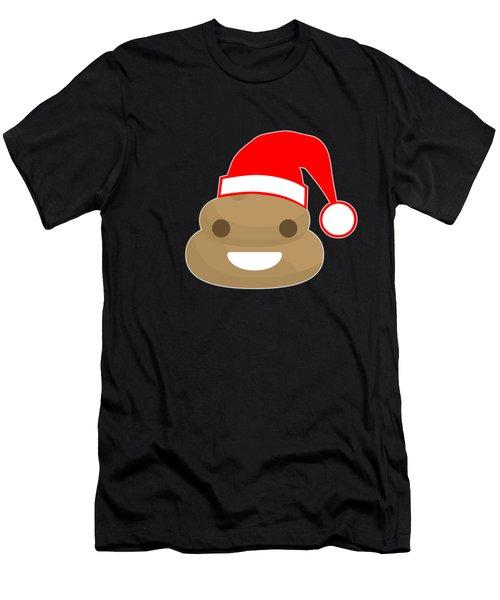 Men's T-Shirt (Athletic Fit) featuring the digital art Poop Emoji Santa by Flippin Sweet Gear