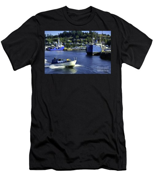 Men's T-Shirt (Athletic Fit) featuring the photograph Port Of Astoria Oregon by Susan Parish