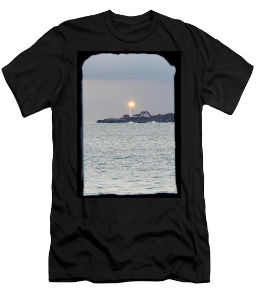Portland Head Lighthouse Through The Gun Port Men's T-Shirt (Athletic Fit)