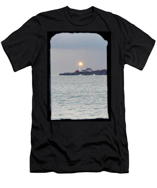 Portland Head Lighthouse Through The Gun Port Men's T-Shirt (Athletic Fit)