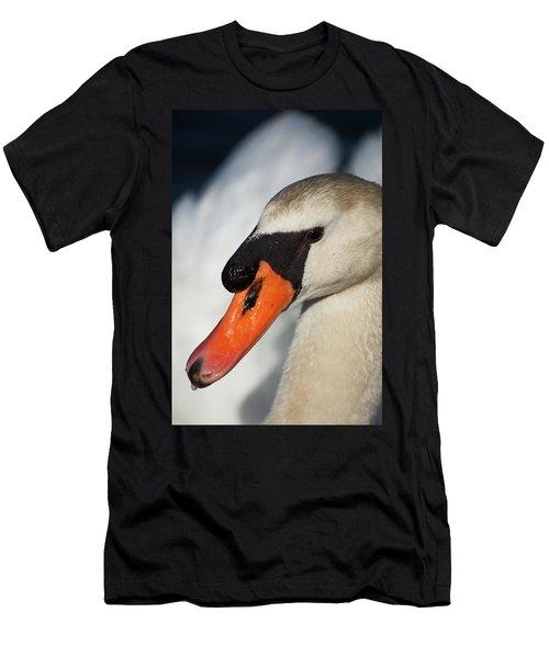 Portrait Of A  Swan Men's T-Shirt (Athletic Fit)