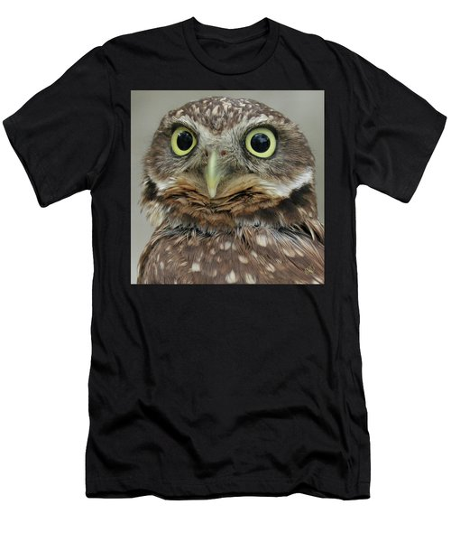 Portrait Of Burrowing Owl Men's T-Shirt (Athletic Fit)