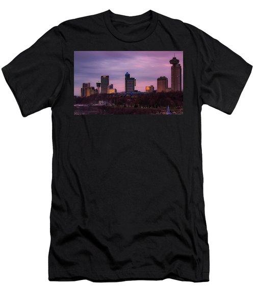 Purple Haze Skyline Men's T-Shirt (Athletic Fit)