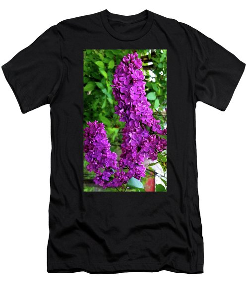 Men's T-Shirt (Athletic Fit) featuring the photograph Purple Lilac Parade by Deahn      Benware