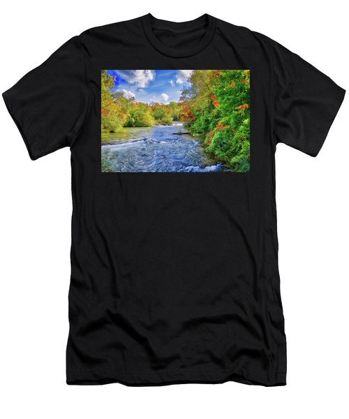 Men's T-Shirt (Athletic Fit) featuring the photograph Raging Beauty At Niagara Falls by Lynn Bauer