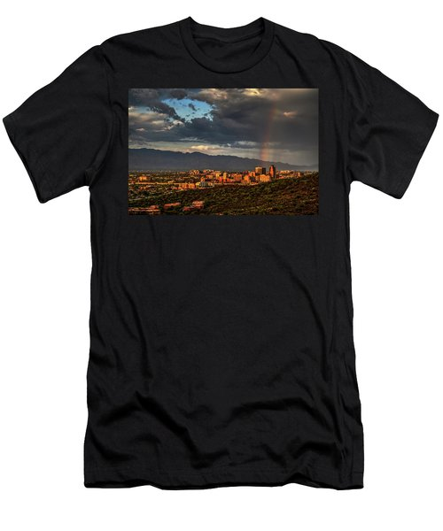 Rainbow Over Tucson Men's T-Shirt (Athletic Fit)