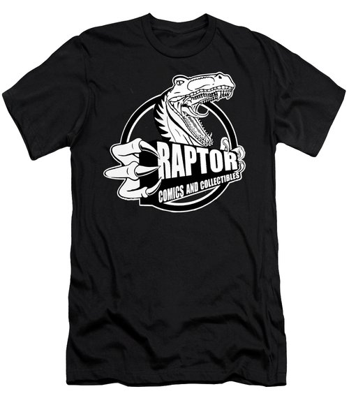 Raptor Comics Black Men's T-Shirt (Athletic Fit)