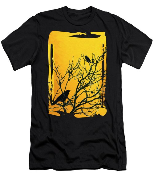 Raven - Black Over Yellow Men's T-Shirt (Athletic Fit)