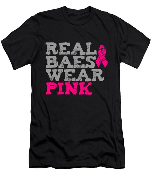 Real Baes Wear Pink Men's T-Shirt (Athletic Fit)