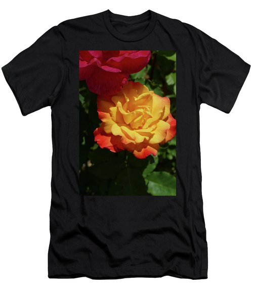 Red And Yellow Rio Samba Roses Men's T-Shirt (Athletic Fit)