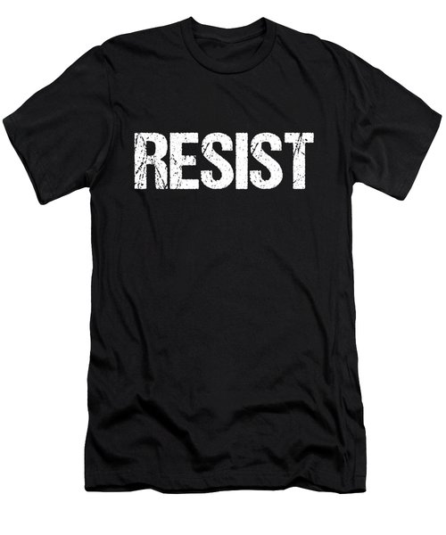 Men's T-Shirt (Athletic Fit) featuring the digital art Resist Trump Protest by Flippin Sweet Gear