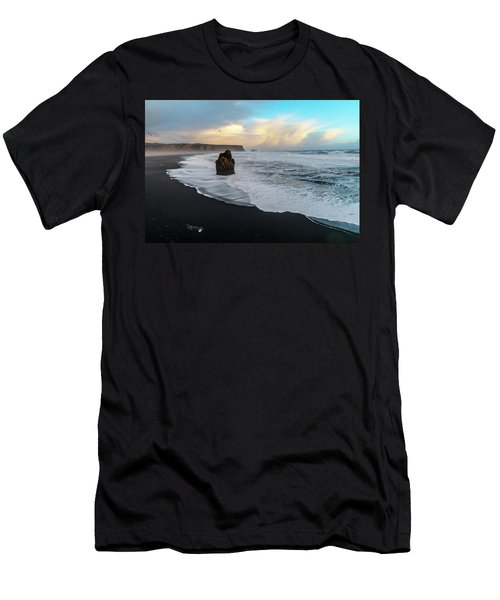 Reynisfjara Beach At Sunset Men's T-Shirt (Athletic Fit)
