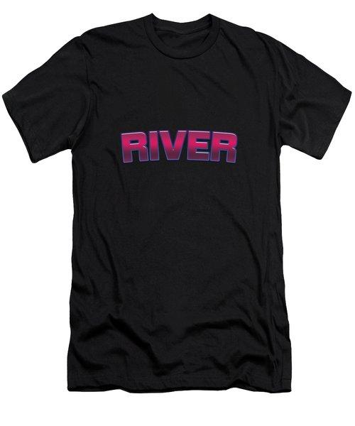 River #river Men's T-Shirt (Athletic Fit)