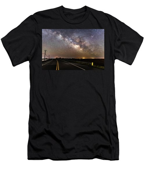 Road To Milky Way Men's T-Shirt (Athletic Fit)