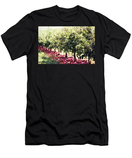 Row Of Red Men's T-Shirt (Athletic Fit)
