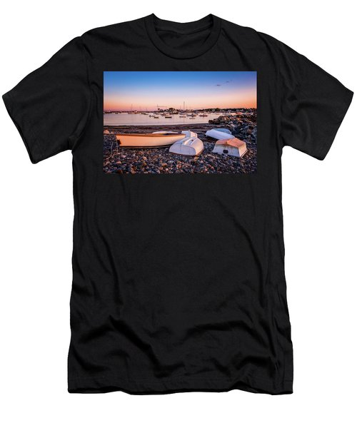 Rowboats At Rye Harbor, Sunset Men's T-Shirt (Athletic Fit)
