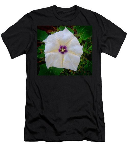 Men's T-Shirt (Athletic Fit) featuring the photograph Sacred Datura - Full Bloom by Judy Kennedy