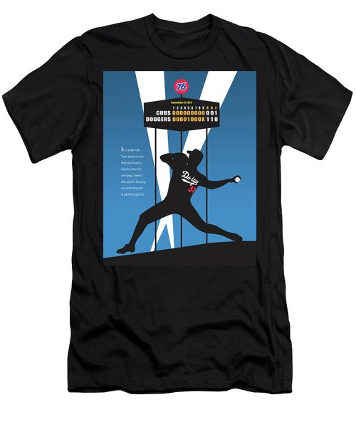 Sandy Koufax Perfect Game Men's T-Shirt (Athletic Fit)