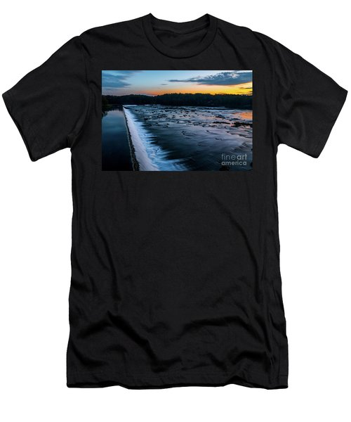 Savannah Rapids Sunrise - Augusta Ga Men's T-Shirt (Athletic Fit)