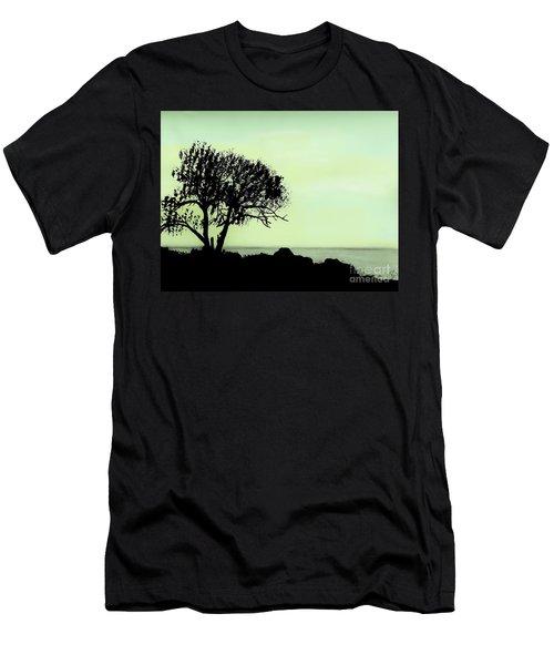 Seashore Silhouette Men's T-Shirt (Athletic Fit)