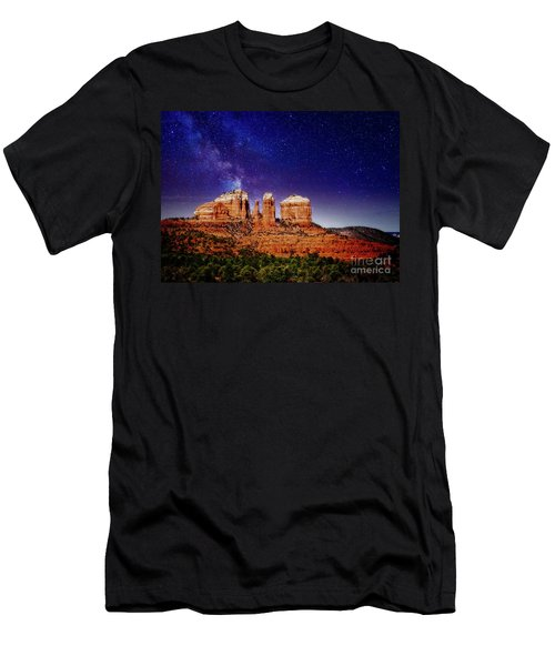 Sedona After Dark Men's T-Shirt (Athletic Fit)