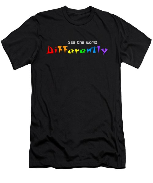 See The World Differently - Custom Products Men's T-Shirt (Athletic Fit)