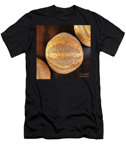 Sesame Seed Stripes 4 Men's T-Shirt (Athletic Fit)