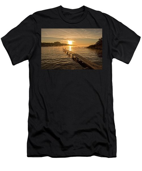 Sespanyol Beach In Ibiza At Sunrise, Balearic Islands Men's T-Shirt (Athletic Fit)