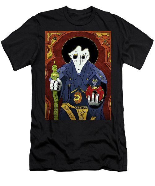Men's T-Shirt (Athletic Fit) featuring the painting Shadow Priest by Sotuland Art