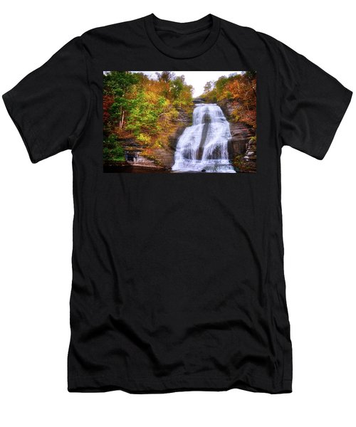 Men's T-Shirt (Athletic Fit) featuring the photograph She-qua-ga - Montour Falls - Finger Lakes, New York by Lynn Bauer