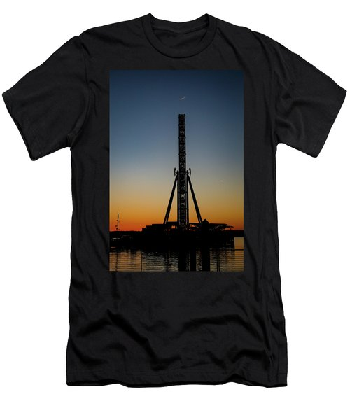 Silhouette Of A Ferris Wheel Men's T-Shirt (Athletic Fit)