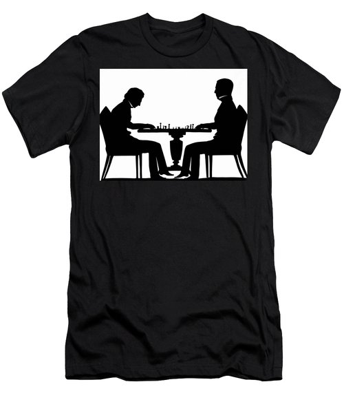 Silhouette Of Chess Players, Around 1845 Men's T-Shirt (Athletic Fit)