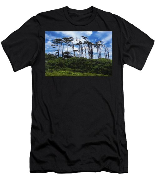 Silhouettes Of Wind Sculpted Krumholz Trees  Men's T-Shirt (Athletic Fit)