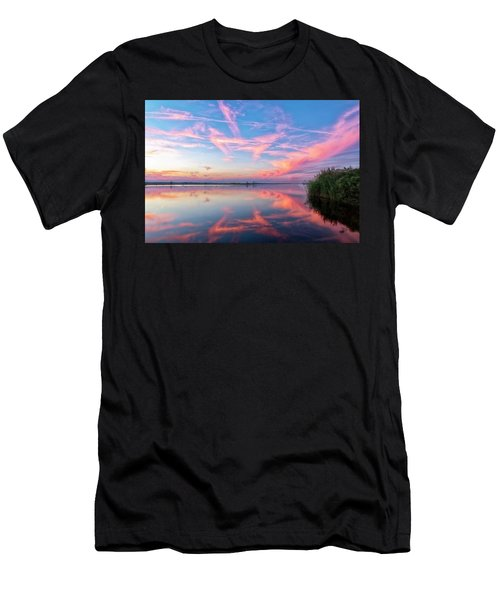 Men's T-Shirt (Athletic Fit) featuring the photograph Simple Reflections by Russell Pugh