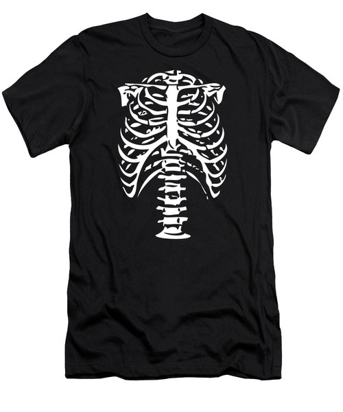 Skeleton Ribs Bones Men's T-Shirt (Athletic Fit)