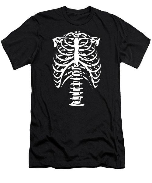 Skeleton Ribs Bones Men's T-Shirt (Athletic Fit)