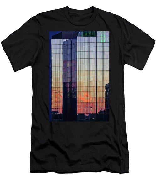 Skyscraper Sunset Men's T-Shirt (Athletic Fit)