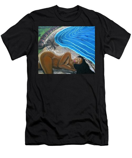 Men's T-Shirt (Athletic Fit) featuring the painting Sleeping Nude by Joan Stratton