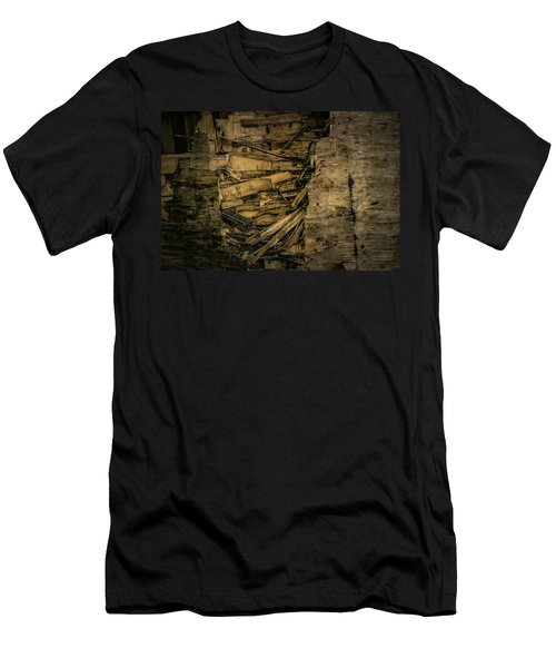 Smashed Wooden Wall Men's T-Shirt (Athletic Fit)