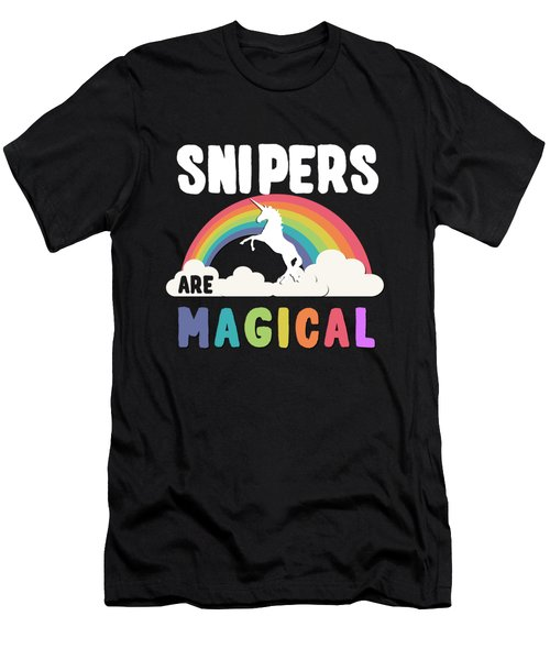Men's T-Shirt (Athletic Fit) featuring the digital art Snipers Are Magical by Flippin Sweet Gear