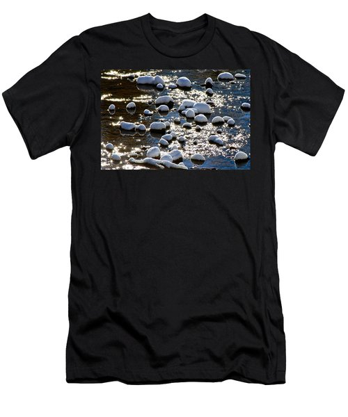 Snow Covered Rocks Men's T-Shirt (Athletic Fit)