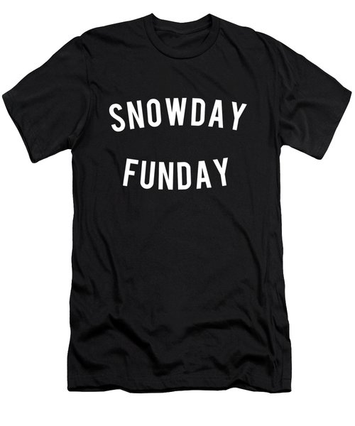 Men's T-Shirt (Athletic Fit) featuring the digital art Snow Day Fun Day by Flippin Sweet Gear