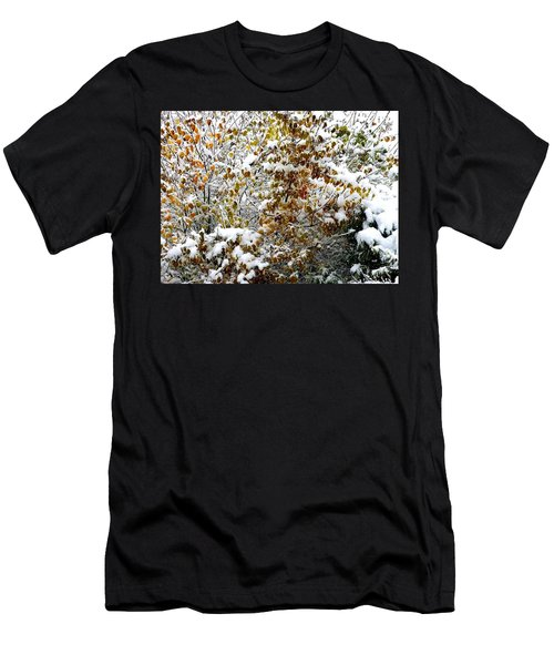 Snowy Autumn Lilac Men's T-Shirt (Athletic Fit)