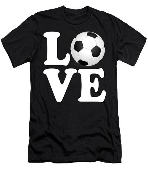 Soccer Love Men's T-Shirt (Athletic Fit)