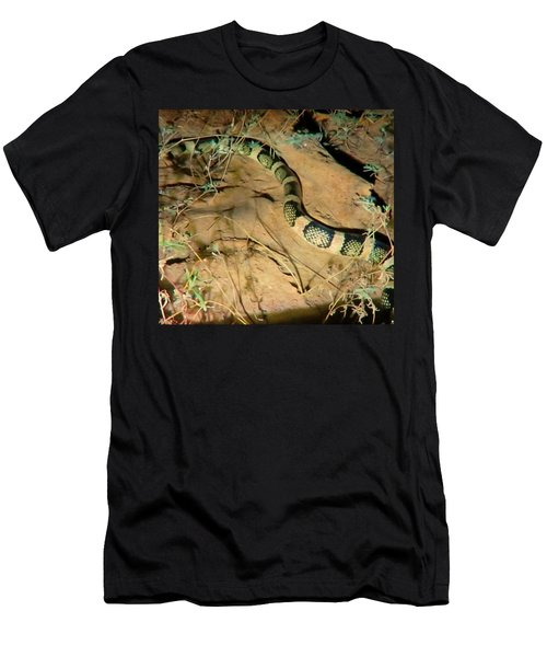Men's T-Shirt (Athletic Fit) featuring the photograph Sonoran Desert Longnosed Snake Vintage by Judy Kennedy