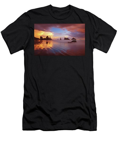 Men's T-Shirt (Athletic Fit) featuring the photograph South Coast Sunset by Darren White